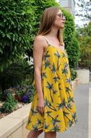 שמלת קנדל הדפס טרופי