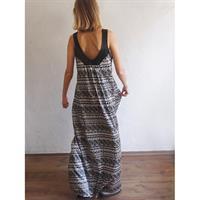 שמלת אדרת מודפס שחור לבן