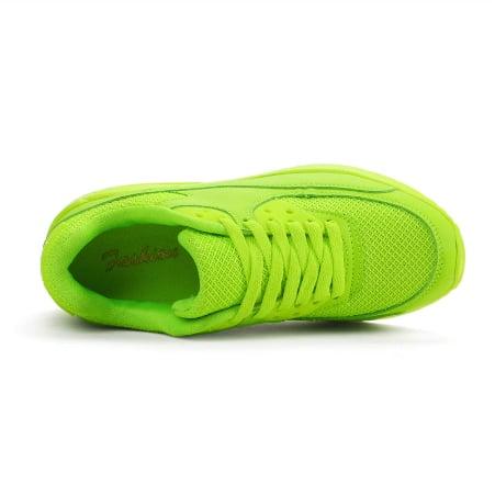 FASHION ספורטיב צבע מרקר ירוק-צהוב