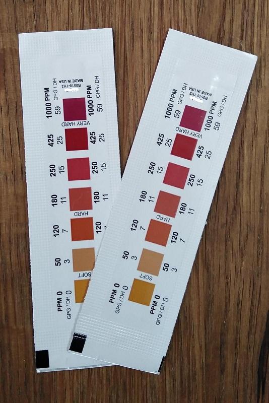זוג סטיקים לבדיקת קשיות מים + משלוח דואר 24