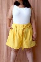 מכנסיי שייה צהוב בננה