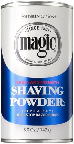 Magic Shaving Powder Blue Softsheen Carson Depilatory Strength 5oz 142g - המחיר ל 3 יחידות