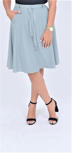 חצאית קלוש שילוב חגורה