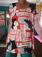 חולצת משי מדליקה לאללה מידה M/L