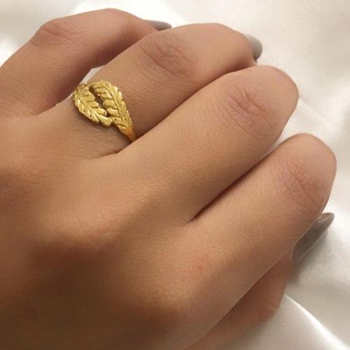 טבעת עלים גולדפילד