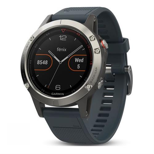 שעון דופק Garmin Fenix 5 Silver with Granite Blue Band