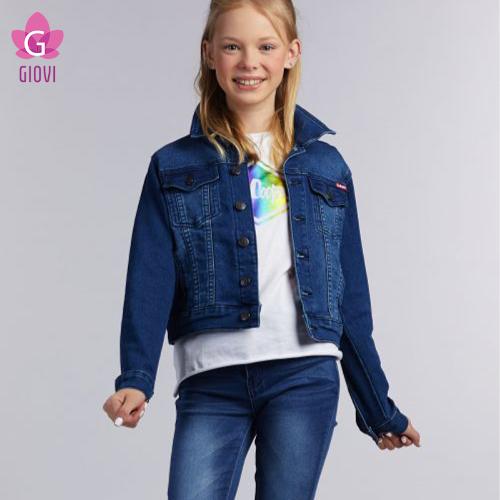 ג'יקט ג'ינס בנות(כחול)