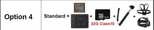 OPTION 4 - מצלמת אקשן  EKEN 4K דגם H9 מקורית! Ultra HD 4K WiFi 1080P/30fps