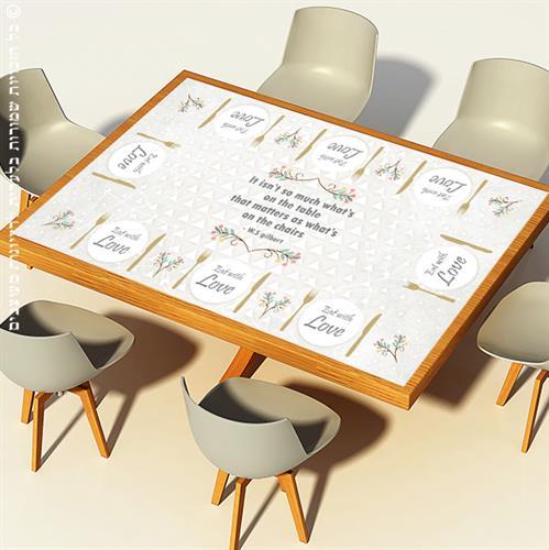 מפת שולחן פיויסי דקורטיבית מלבנית - קלסיקה מודרנית ל-שולחנות מעוצבים