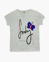 חולצה בנות טריקו מעוצבת פרפר