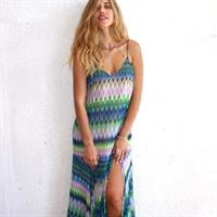 שמלת קלואי צבעונית
