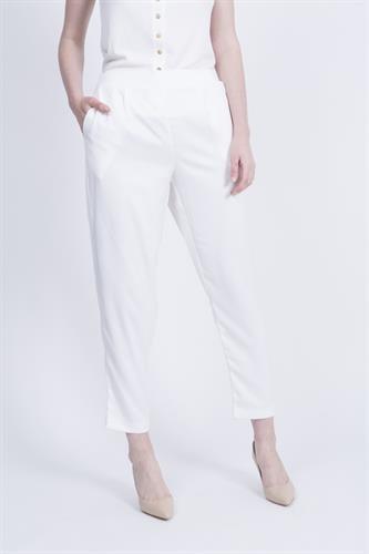 מכנסיים ברוק שמנת