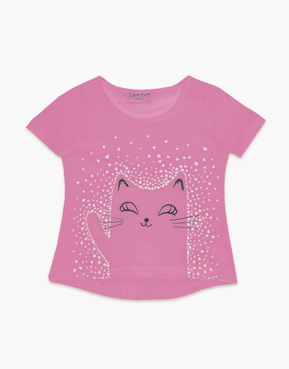 חולצה בנות טריקו מעוצבת חתול