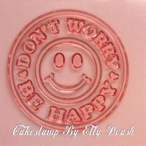 Dont Worry Be Happy - Smiley - Round Frame