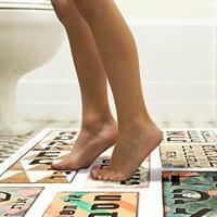 סט שטיח ושלט למקלחת