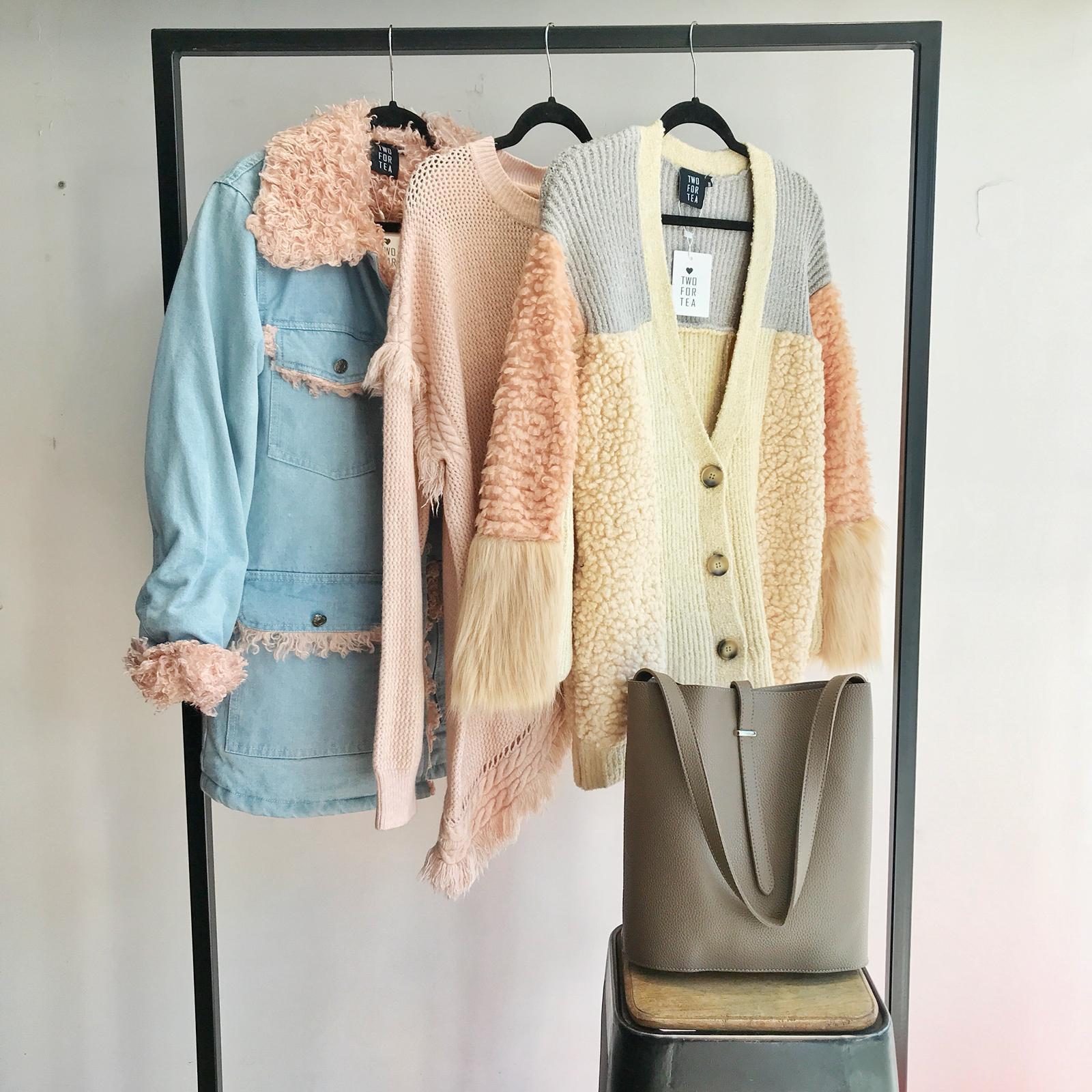 מעיל אוסטין ג'ינס בשילוב פרווה