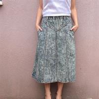 חצאית מידי ג'ינס Stone wash מידה L/XL