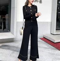 חליפת מדמוזל סריג - שחורה