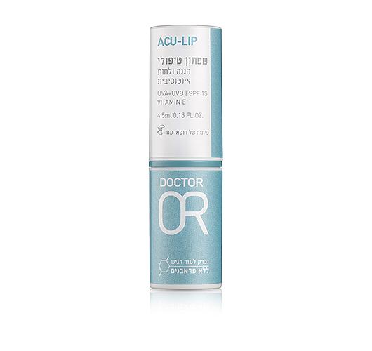 דר  עור אקו-עור שפתון טיפולי לשפתיים יבשות ולהגנה מהשמש SPF 50 מל 4.5
