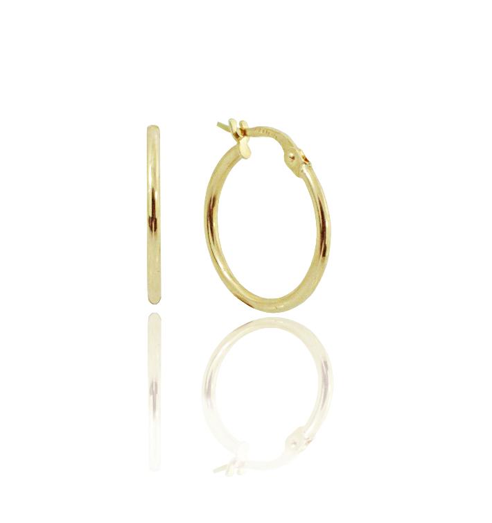 עגילי זהב חישוק 2.6 סמ