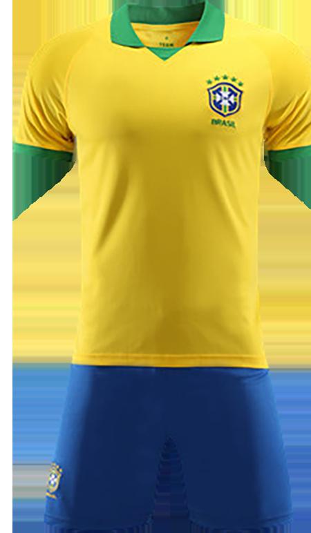 תלבושת צהובה כחולה דמוי ברזיל