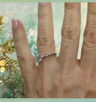 טבעת זהב עם יהלום 1 קראט