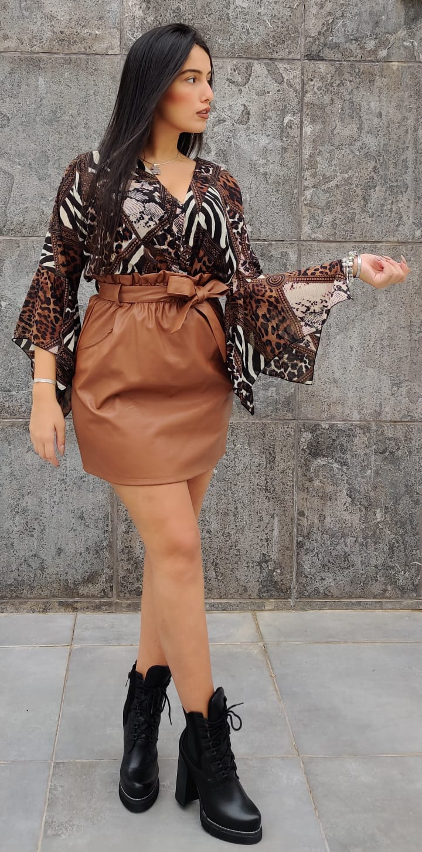 חצאית דמוי עור פריז