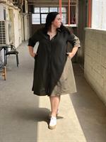 שמלת ניו יורק ירוק זית