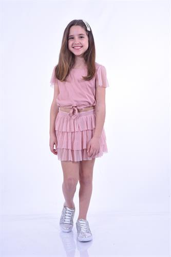 סט חצאית קומות וחולצה חגיגית