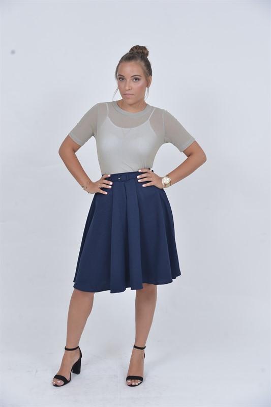 חצאית קלוש כחולה