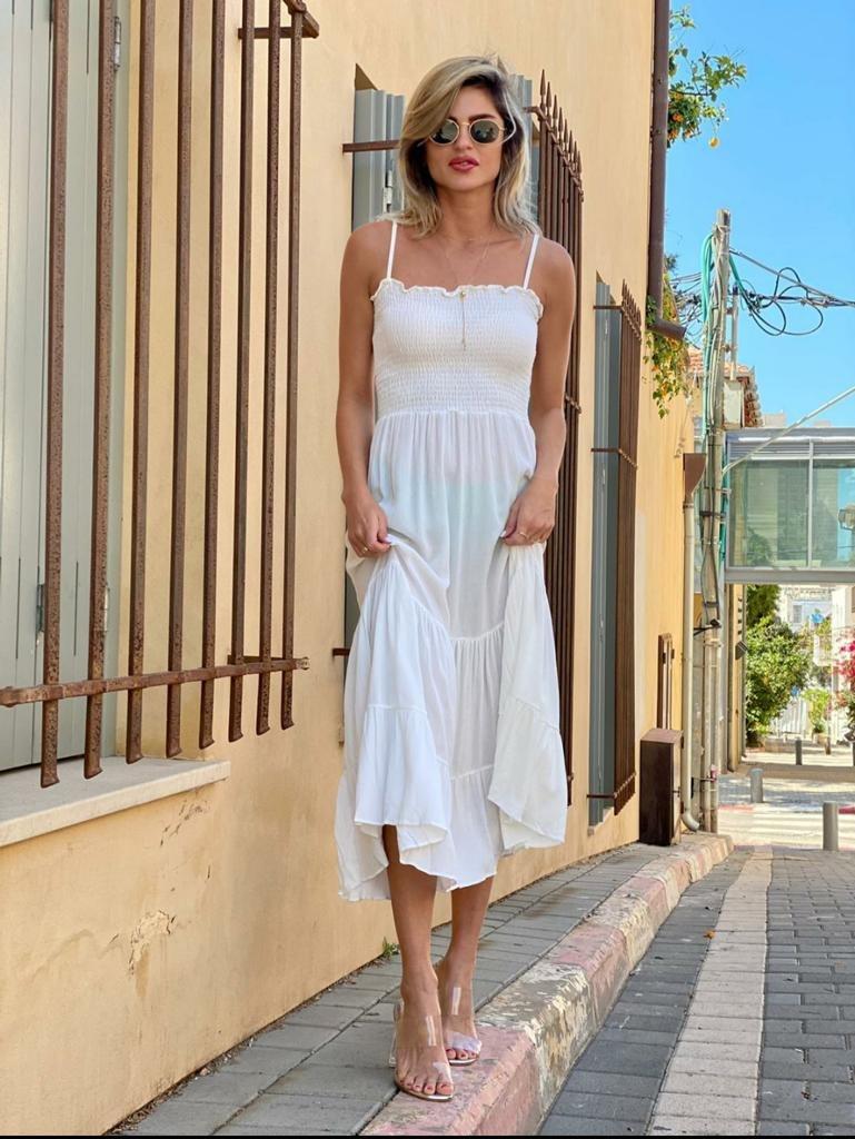 שמלת מקסי כיווצים ALMHA
