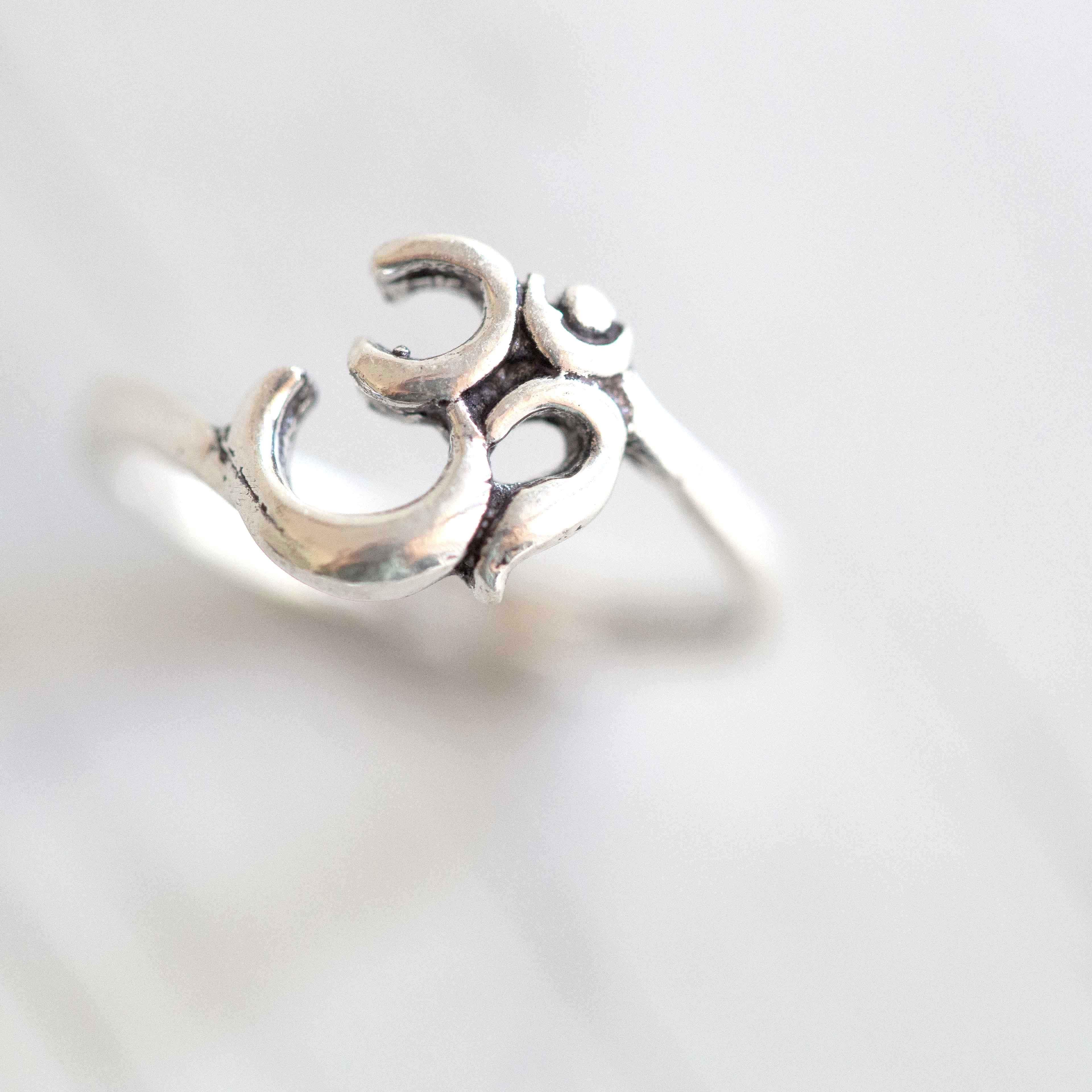 טבעת אום מצופה כסף