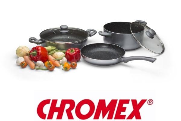 CHROMEX סט סירים 5 חלקים אלומיניום  דגם GR885