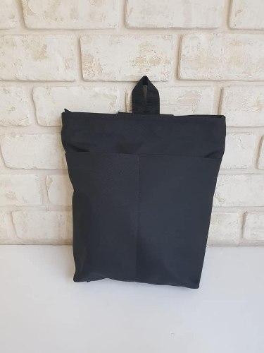 תיק גב - בד לבנת שחור
