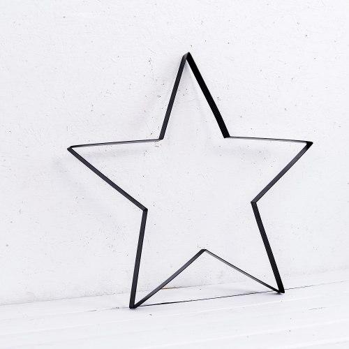 כוכב ברזל שחור קו מתאר - XL