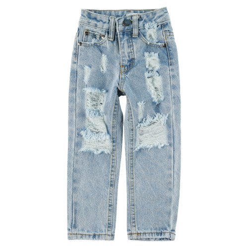 ג׳ינס כחול ארוך עם קרעים MISS KIDS - מידות 2-18