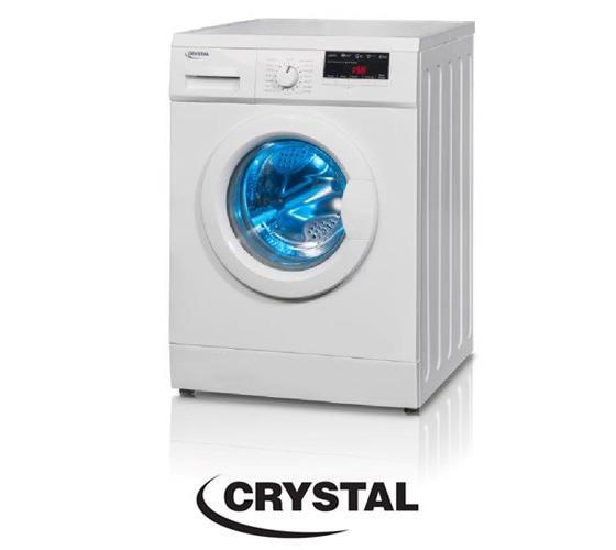"""מכונת כביסה פתח חזית 6 ק""""ג Crystal CRM6100"""