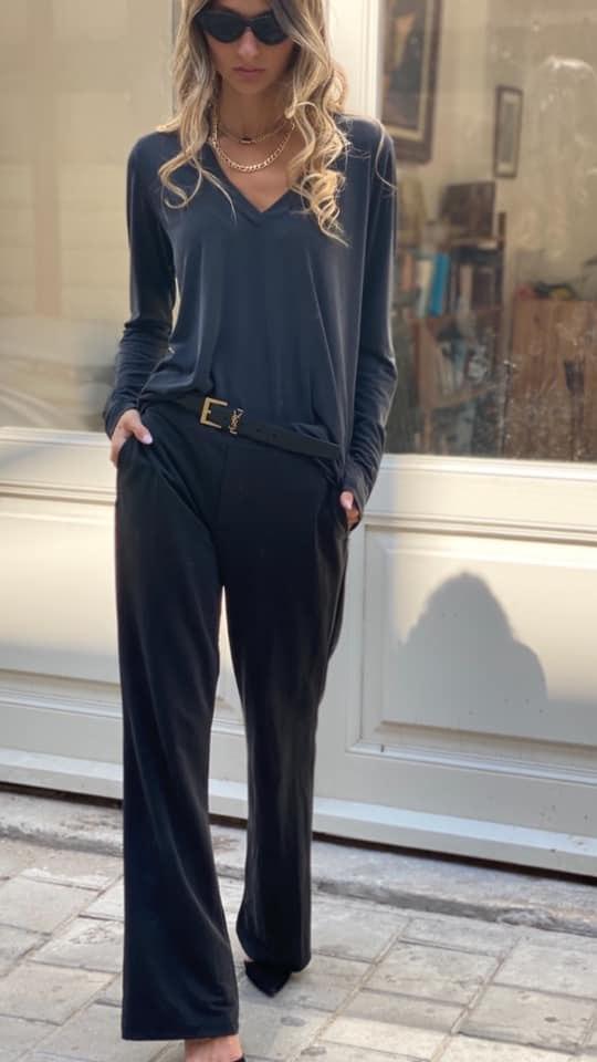 מכנס בילי ארוך שחור