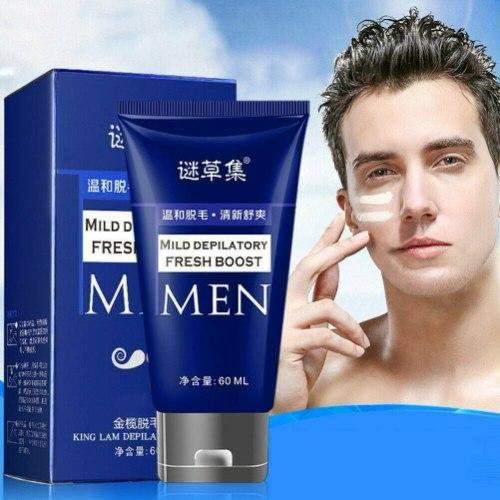 MEN  קרם להסרת שיער ללא כאבים קרם גילוח נטול תער. מסיר שיער 60 גרם