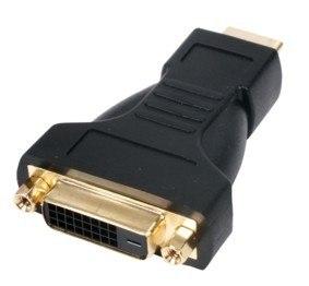 מתאם HDMI זכר - DVI נקבה, מוזהב