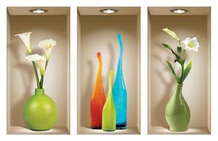 שלישיית נישות  בקבוקים צבעוניים דגם 131