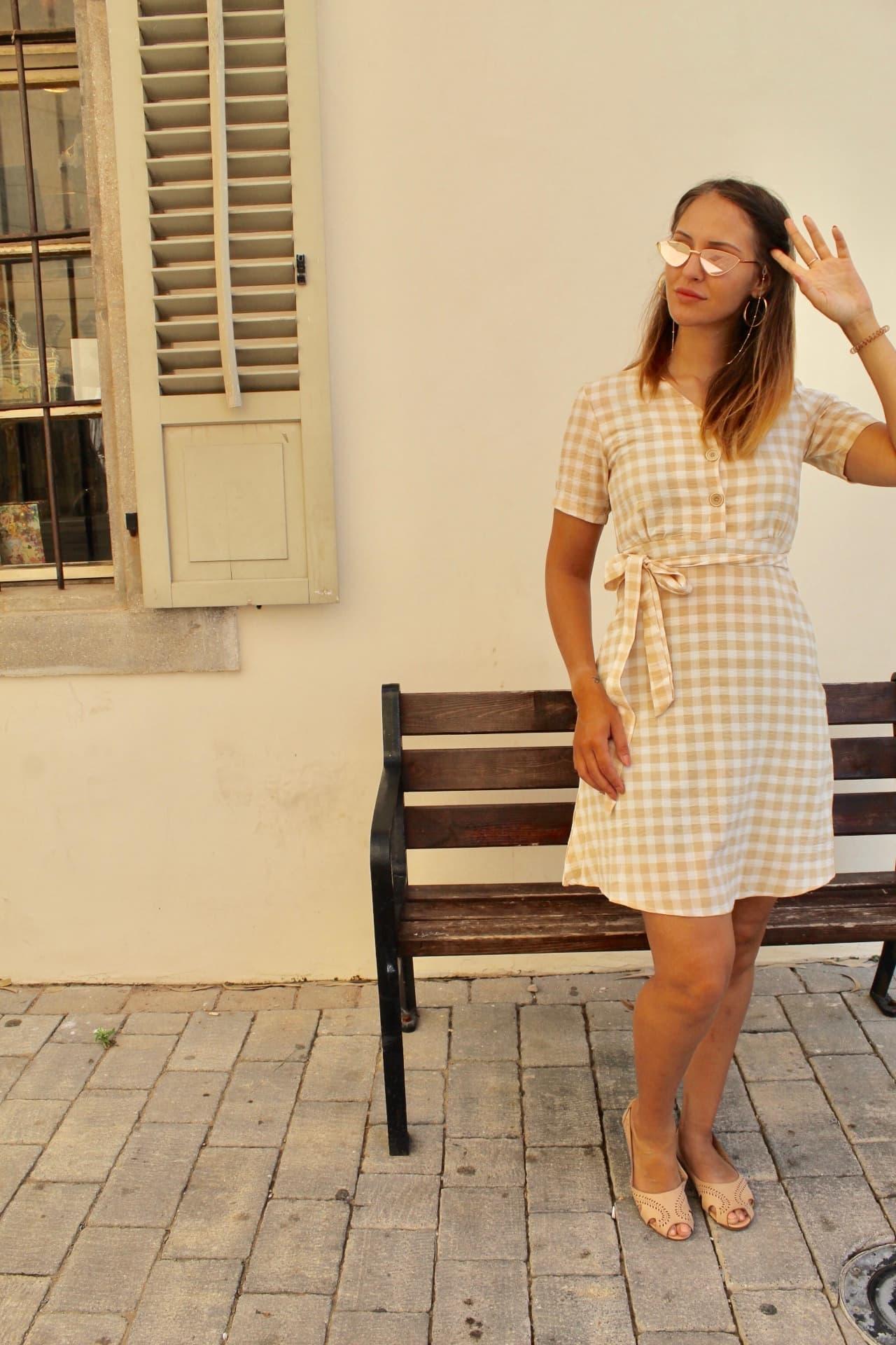שמלת סקוור כתומה