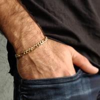 צמיד חוליות מזהב לגבר דגם פיגרו