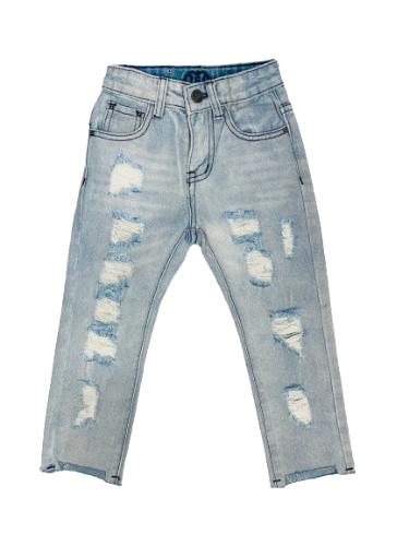 ג׳ינס קרעים סקיני כחול בהיר ORO
