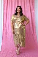 שמלת מיה פליסה GOLD
