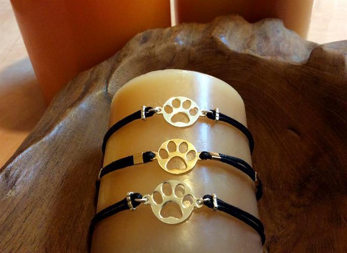Black rope Paw Bracelet