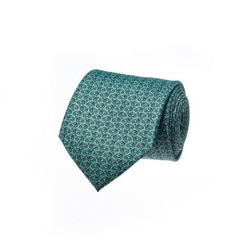 עניבה דגם מכונית בגווני תכלת מנטה