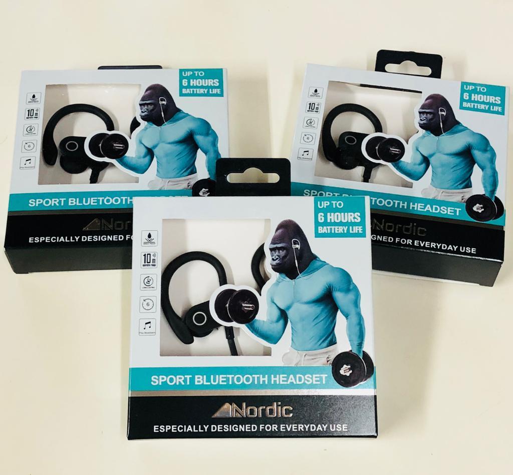 אוזניות בלוטוס ספורט  של חברת Nordic