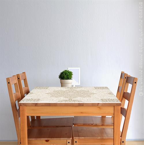 מפת שולחן פיויסי דקורטיבית- מנדלה אופוויט ל-שולחנות מעוצבים