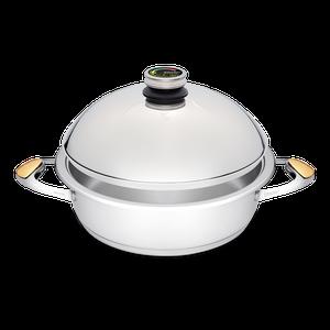 """סיר לבישול בריא בנפח 5 ליטר, קוטר 28 ס""""מ"""